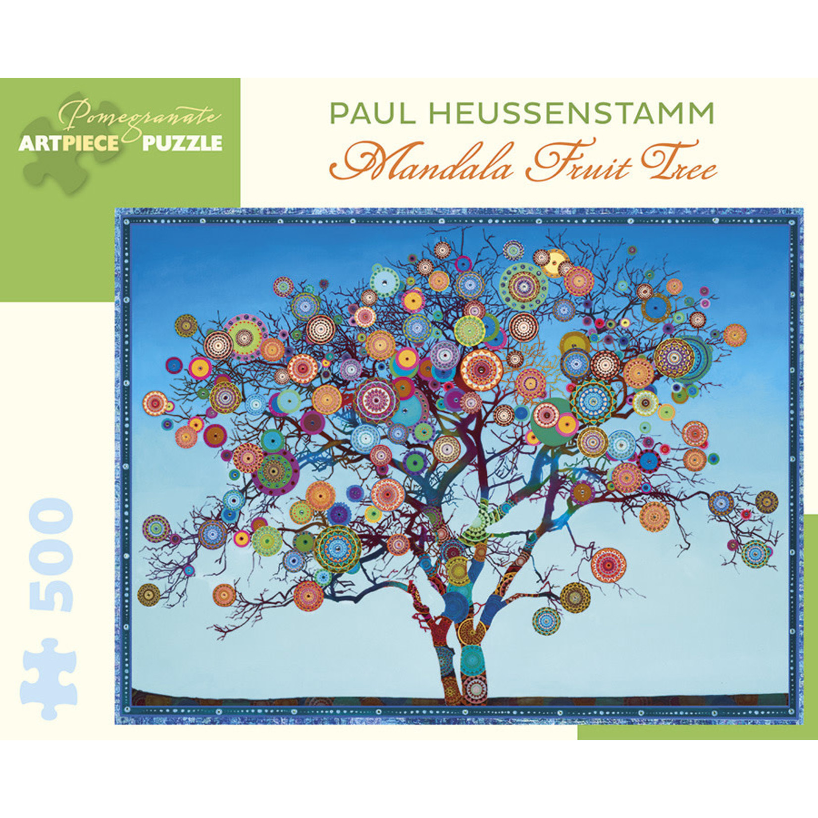 Pomegranate Puzzles Mandala Fruit Tree 500pc