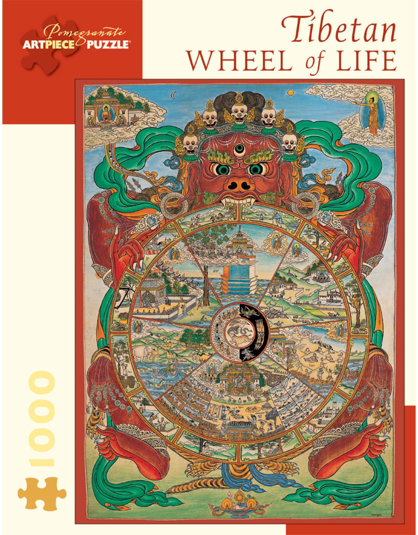 Pomegranate Puzzles Tibetan Wheel of Life 1000pc