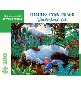 Pomegranate Puzzles Wonderland Cat 300pc