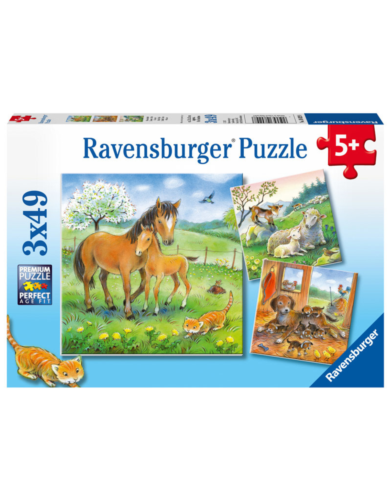 Ravensburger Cuddle Time 3x49pc