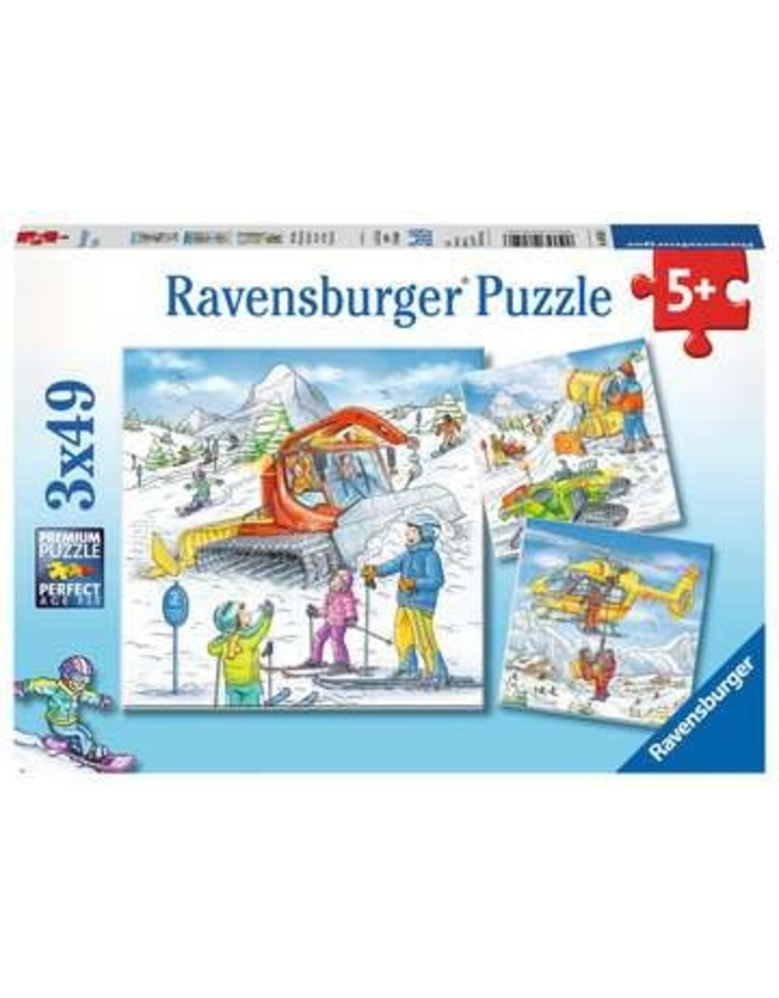 Ravensburger Let's Go Skiing! 3x49pc