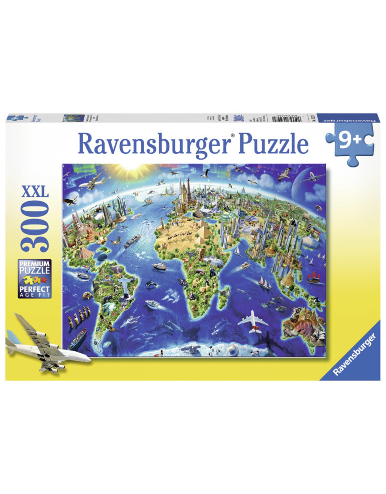 Ravensburger World Landmarks Map 300pc