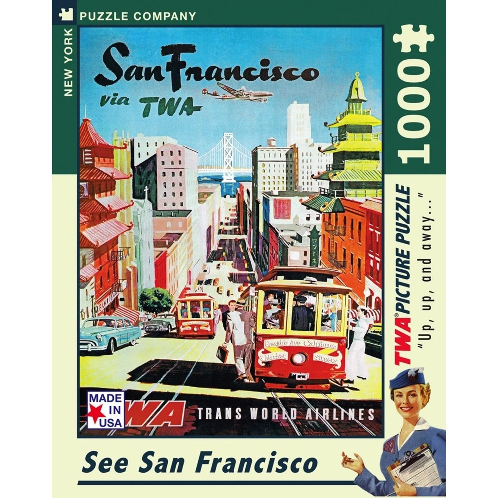 New York Puzzle Co San Francisco 1000pc