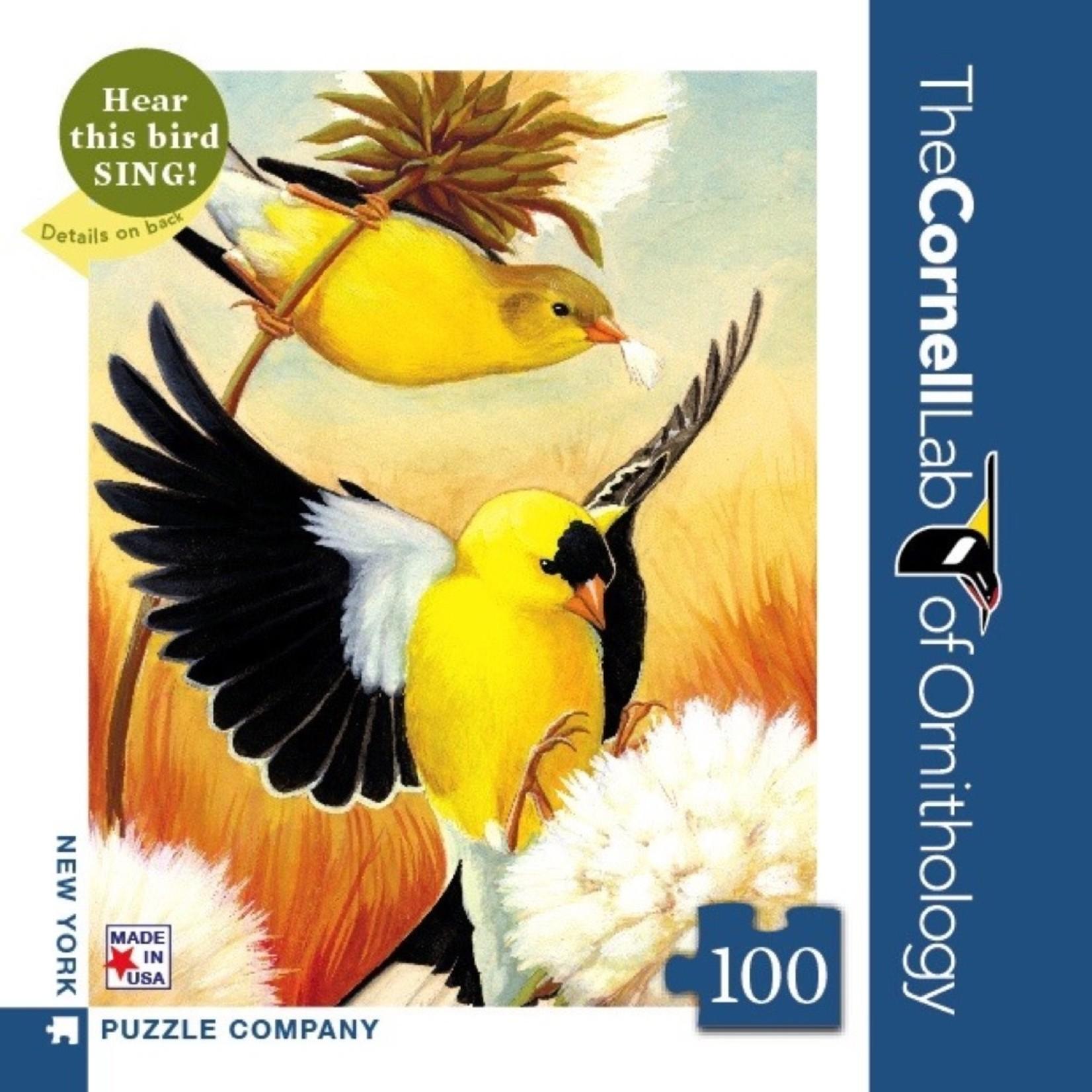 New York Puzzle Co American Goldfinch Mini 100pc