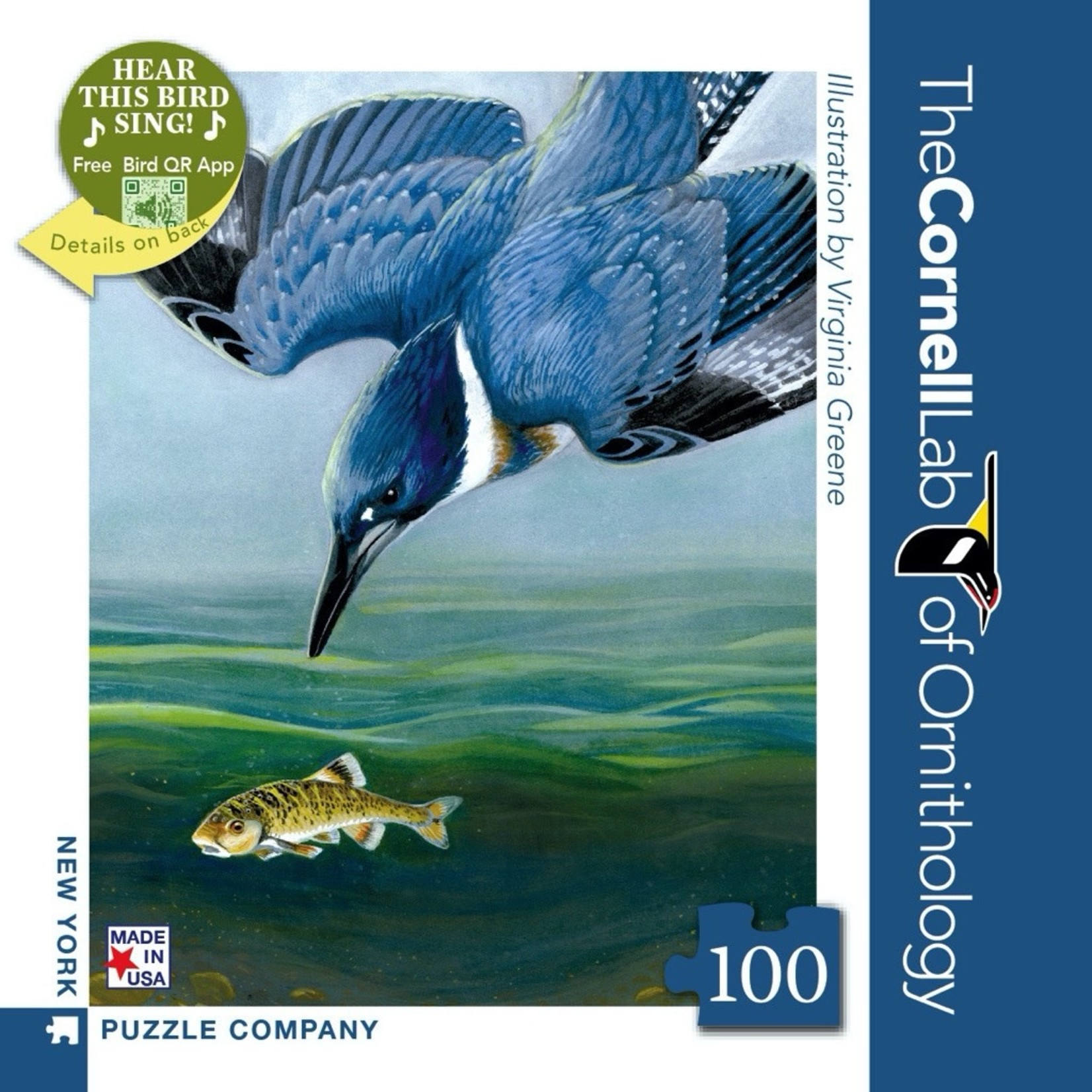 New York Puzzle Co Belted Kingfisher Mini 100pc
