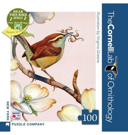 New York Puzzle Co Carolina Wren Mini 100pc