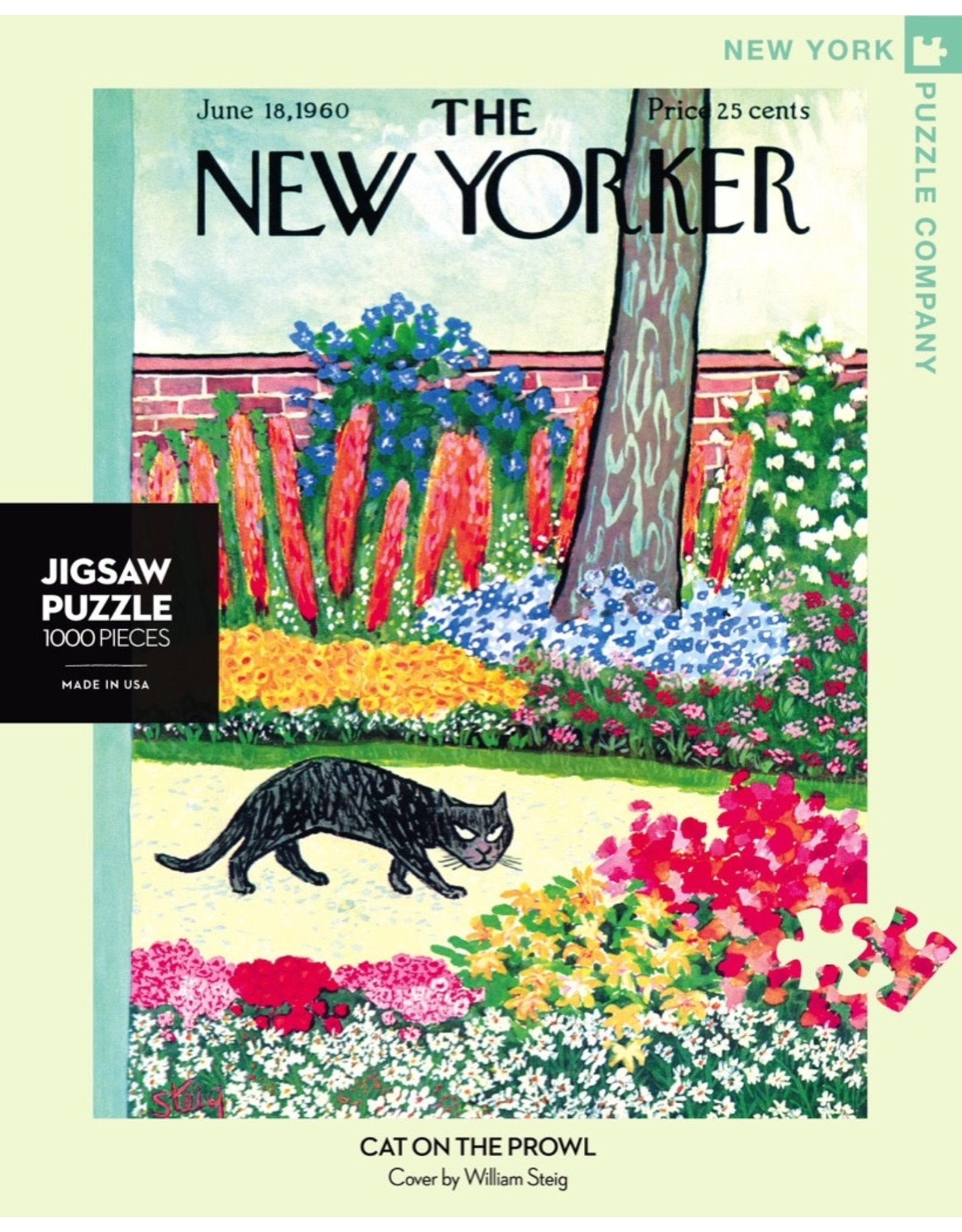 New York Puzzle Co Cat on the Prowl 1000pc