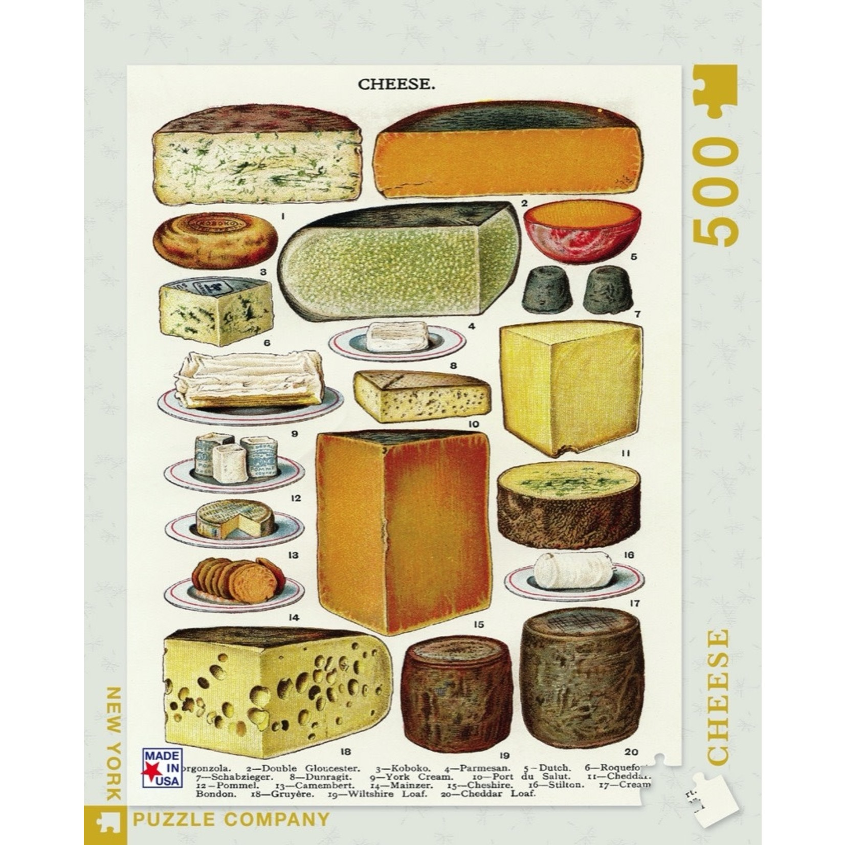 New York Puzzle Co Cheese 500pc
