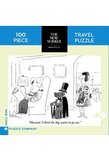 New York Puzzle Co Dog Wants to Go Out Mini 100pc