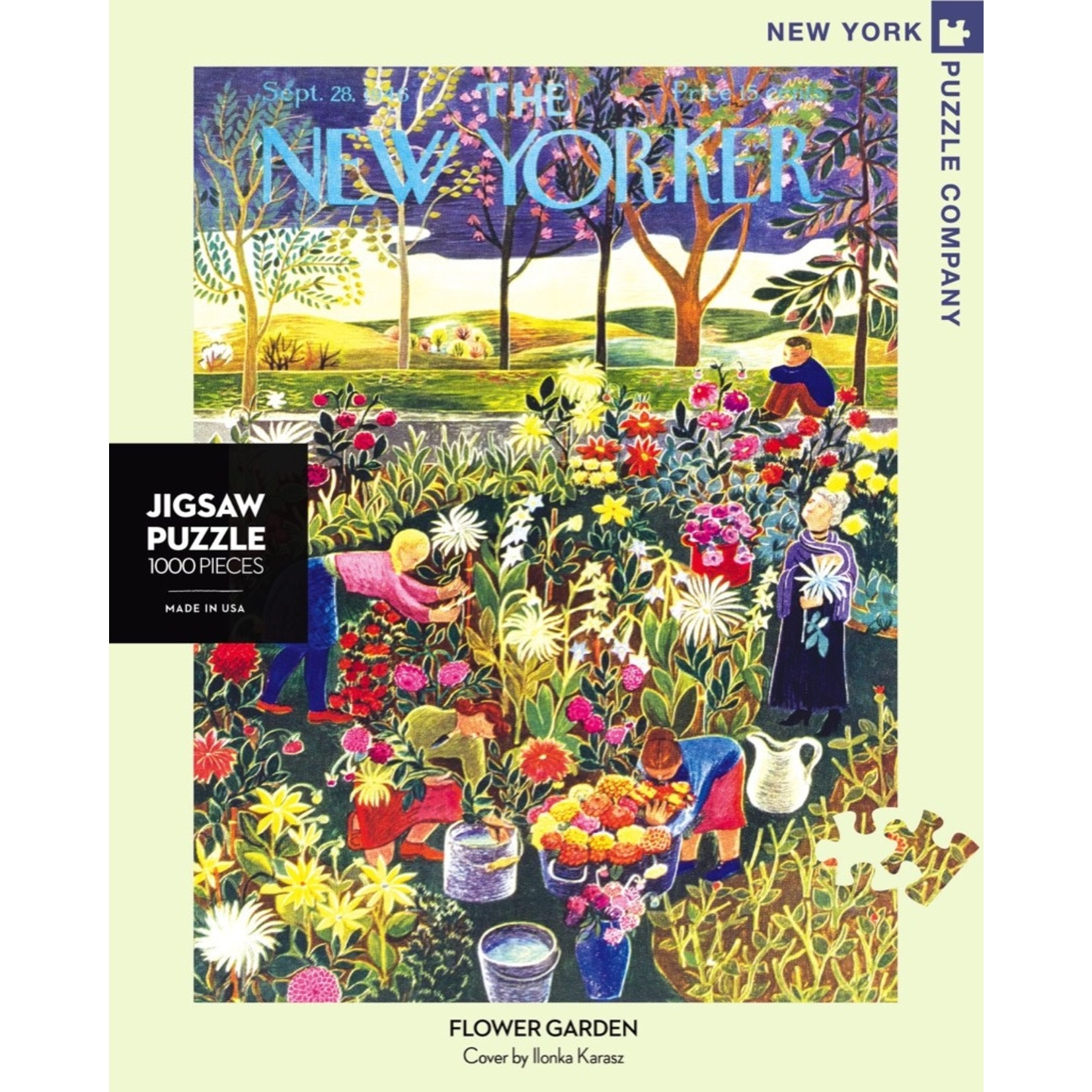 New York Puzzle Co Flower Garden 1000pc