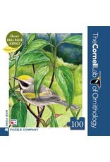 New York Puzzle Co Golden-winged Warbler Mini 100pc
