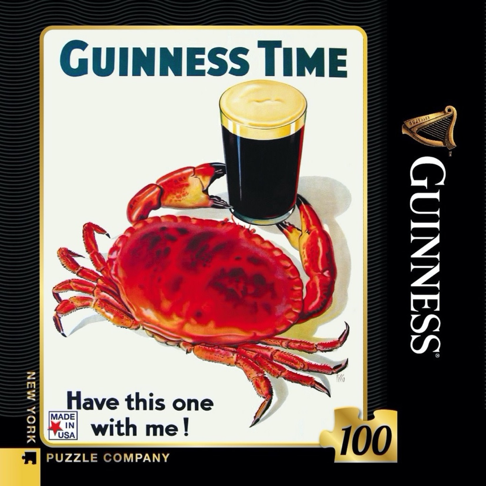 New York Puzzle Co Guinness and Crab Mini 100pc