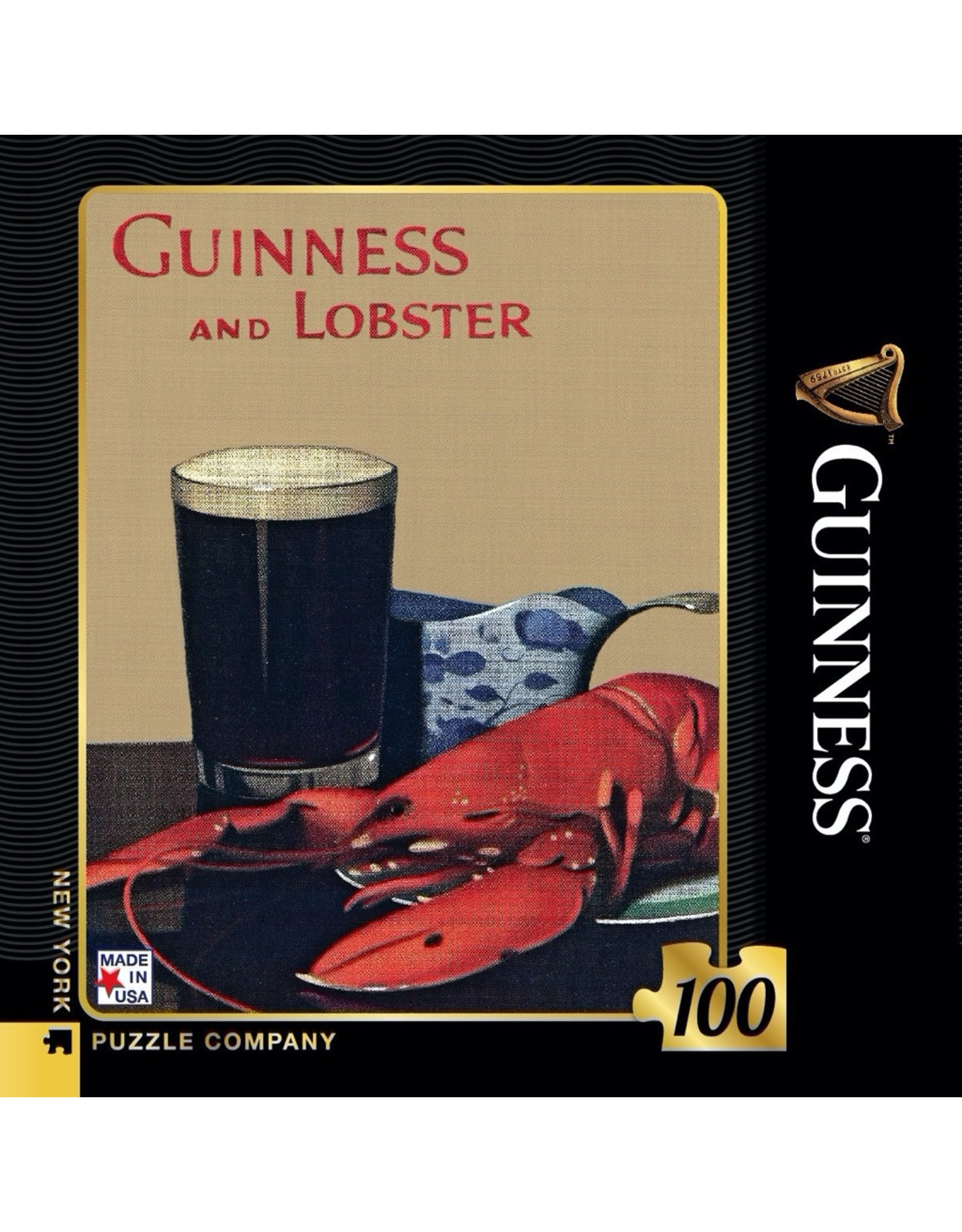 New York Puzzle Co Guinness and Lobster Mini 100pc