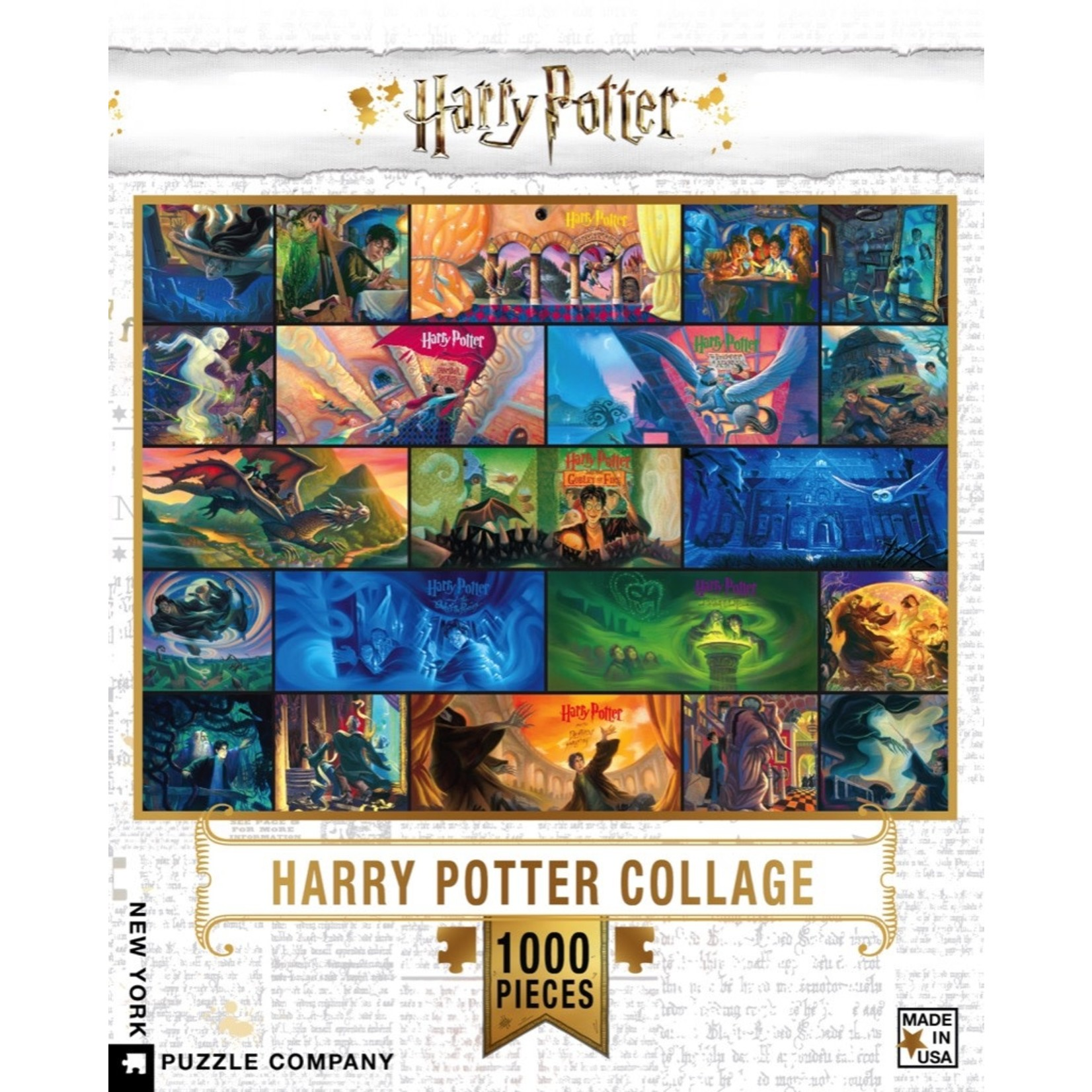 New York Puzzle Co Harry Potter Collage 1000pc