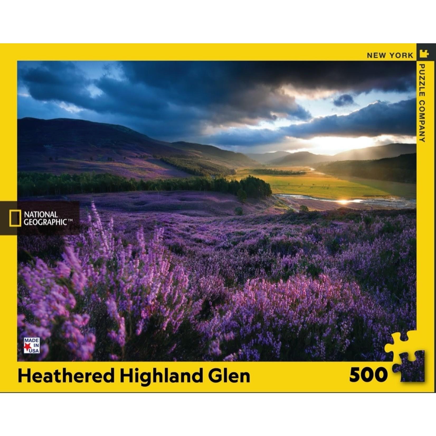 New York Puzzle Co Heathered Highland Glen 500pc