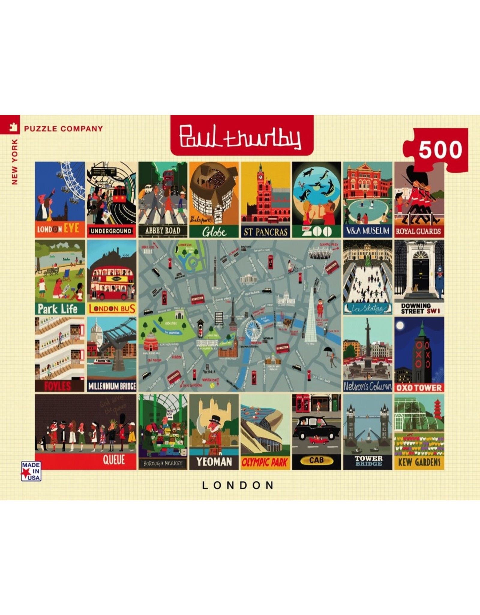 New York Puzzle Co London Collage 500pc