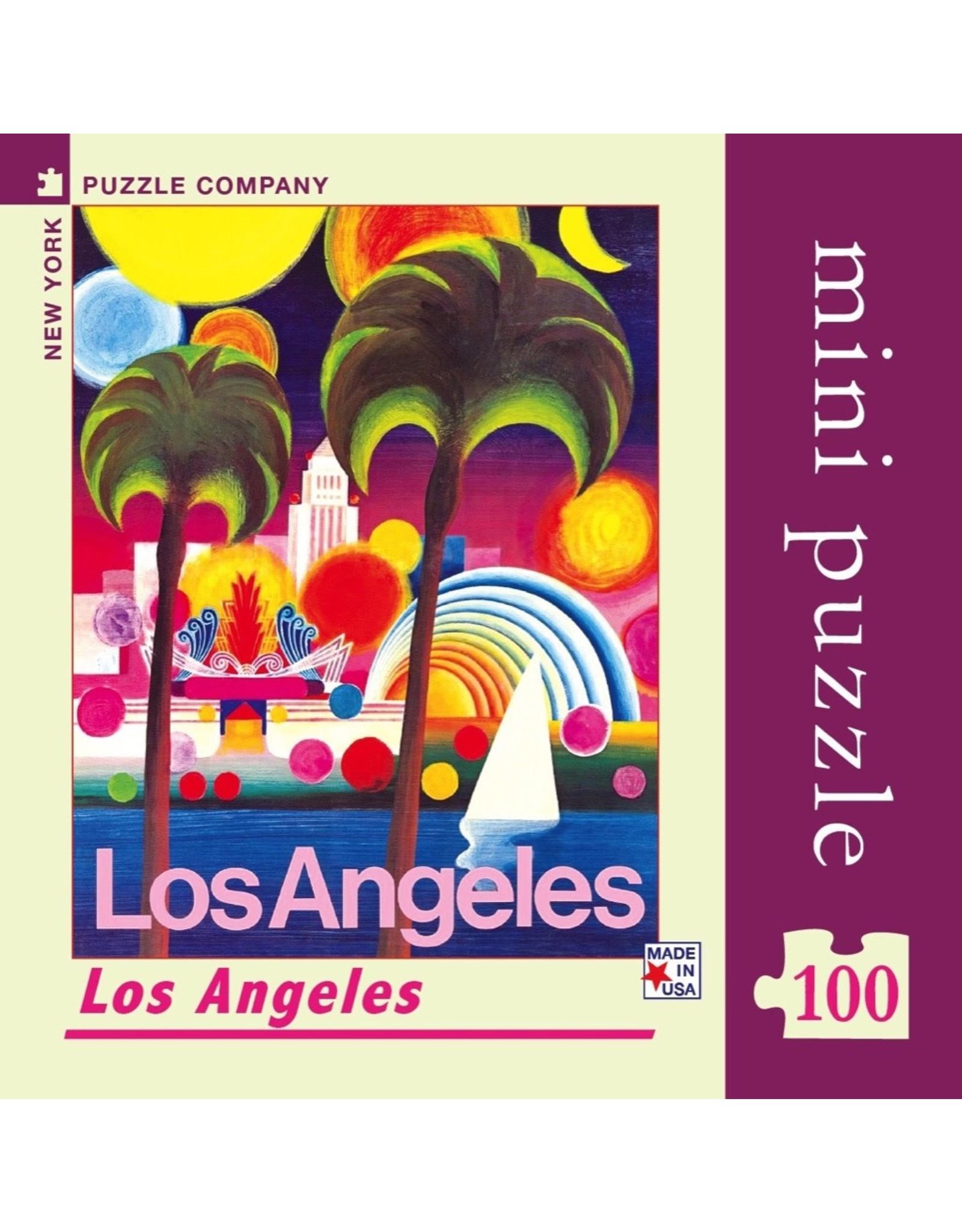 New York Puzzle Co Los Angeles Mini 100pc