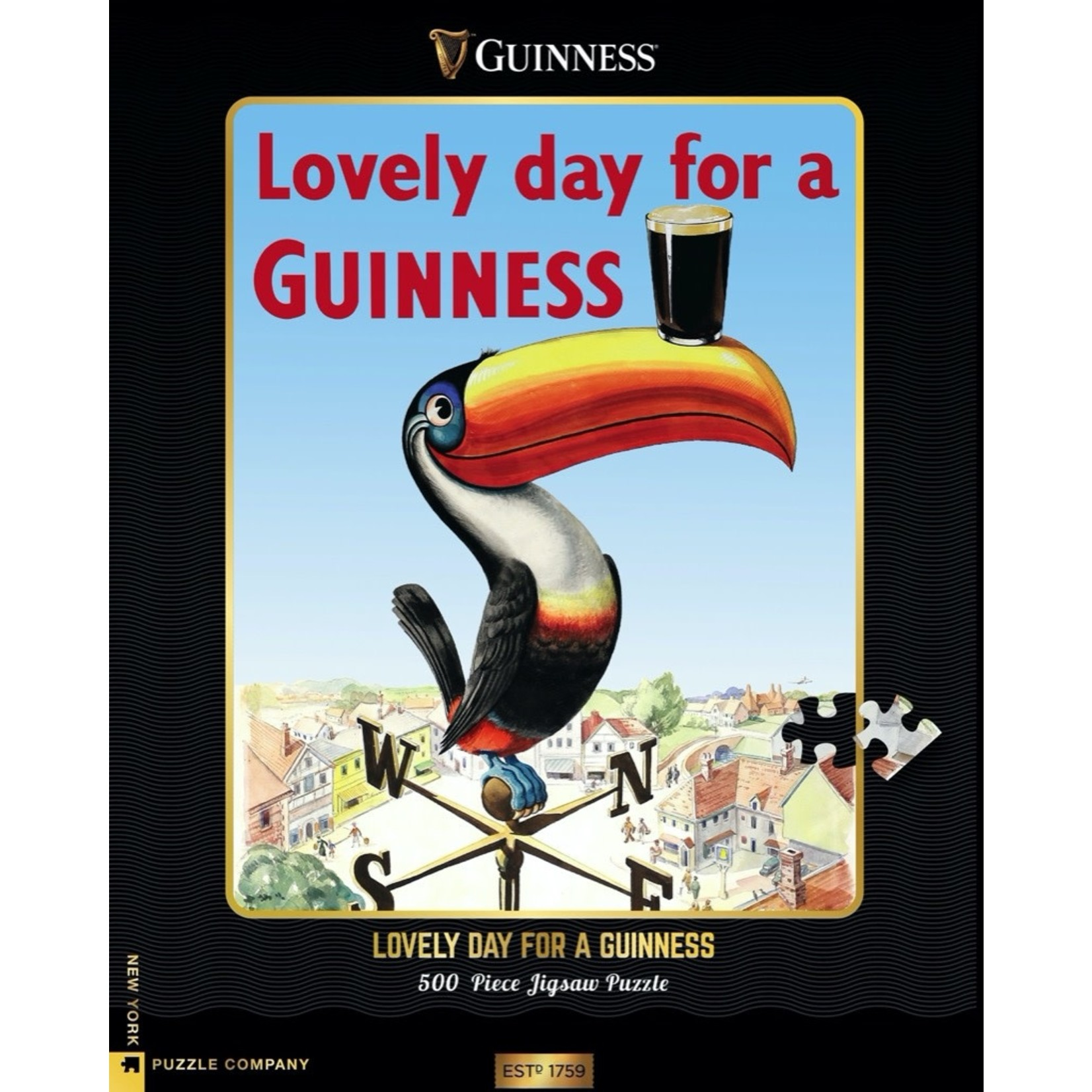 New York Puzzle Co Lovely Day for a Guinness 500pc