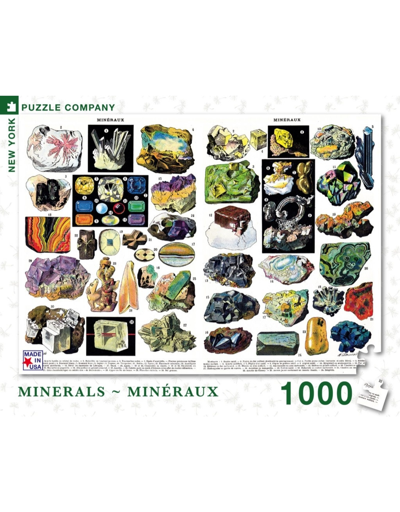 New York Puzzle Co Minerals & Gems 1000pc