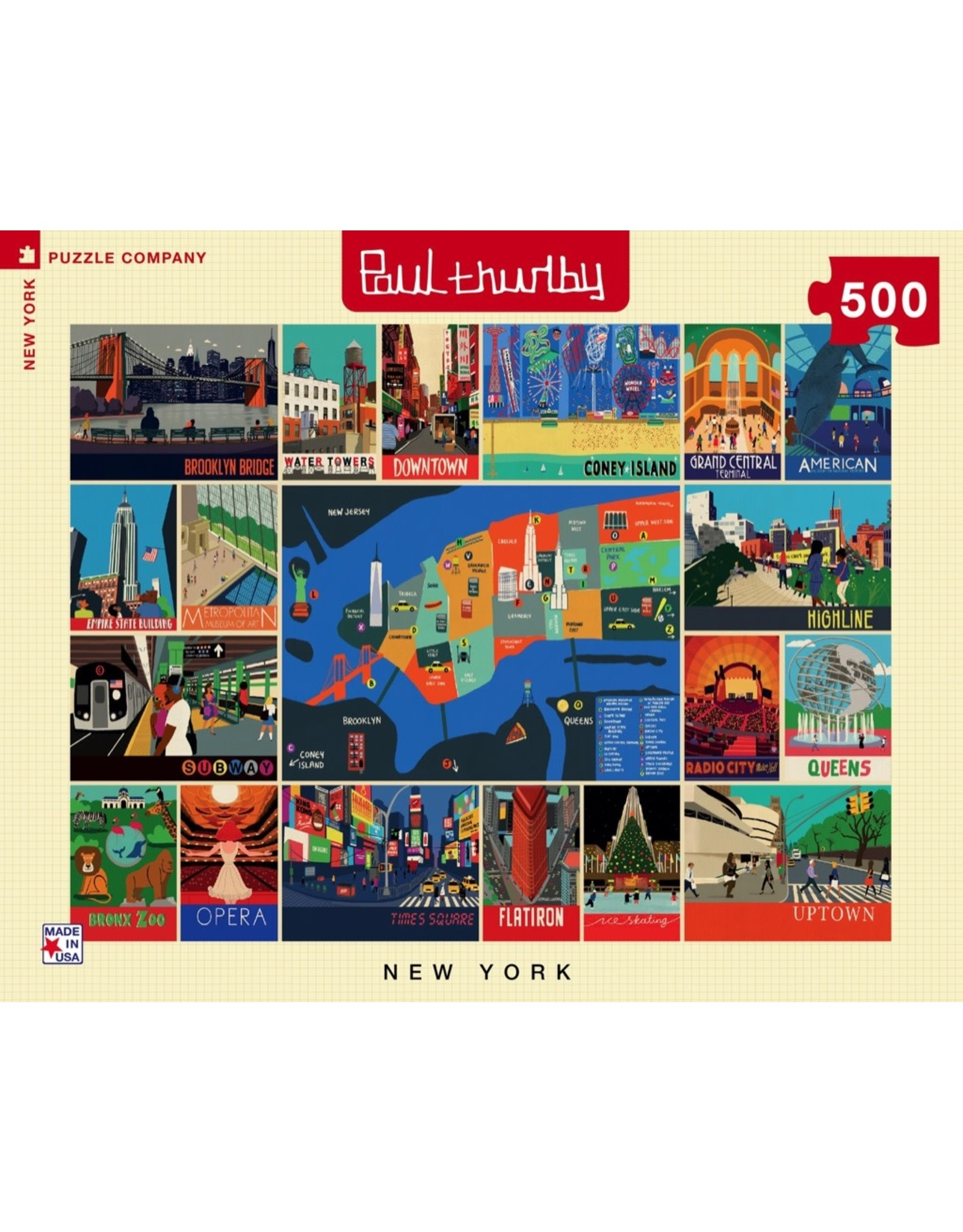 New York Puzzle Co New York Collage 500pc