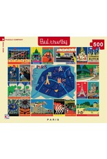 New York Puzzle Co Paris Collage 500pc