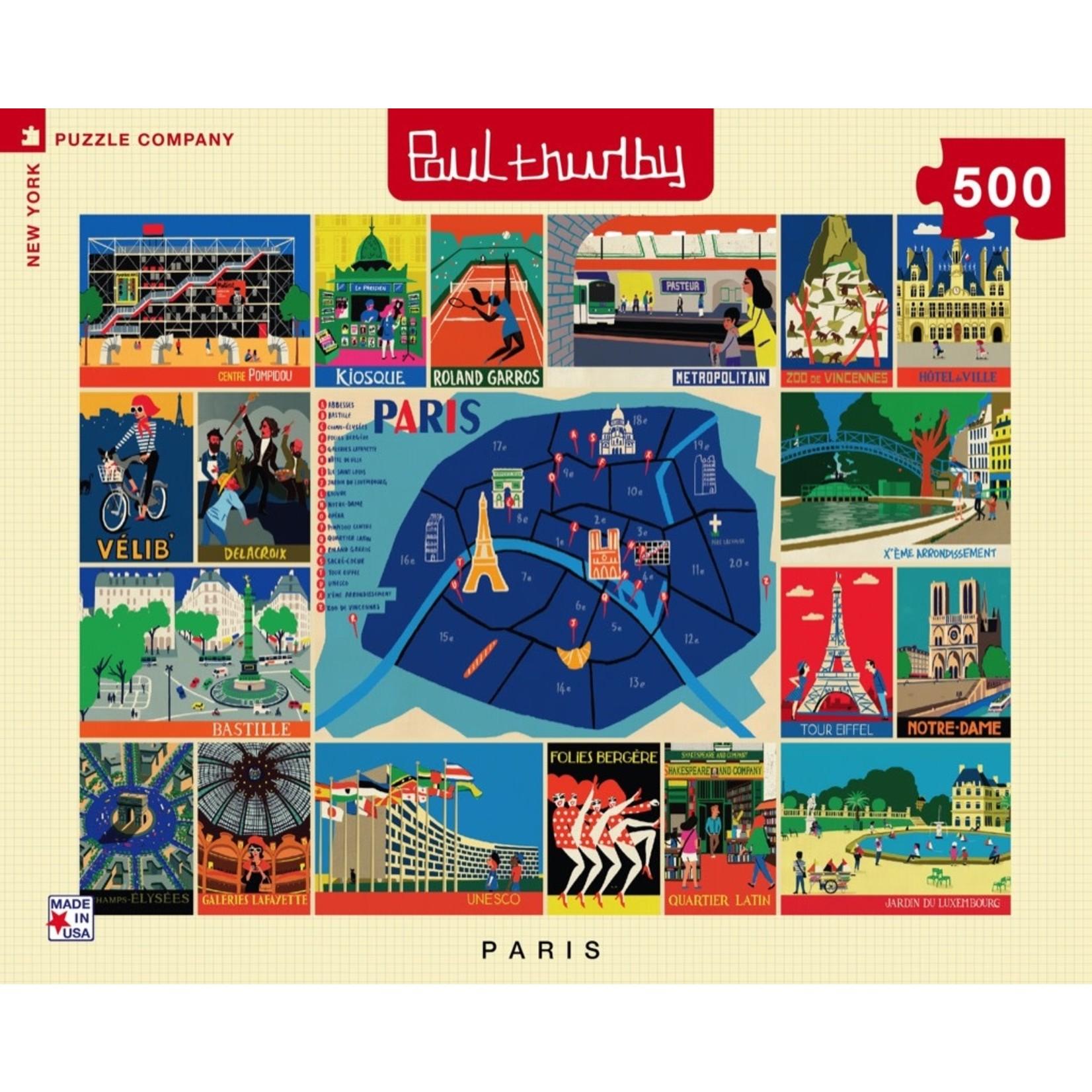 New York Puzzle Co Paris Collage 500pc