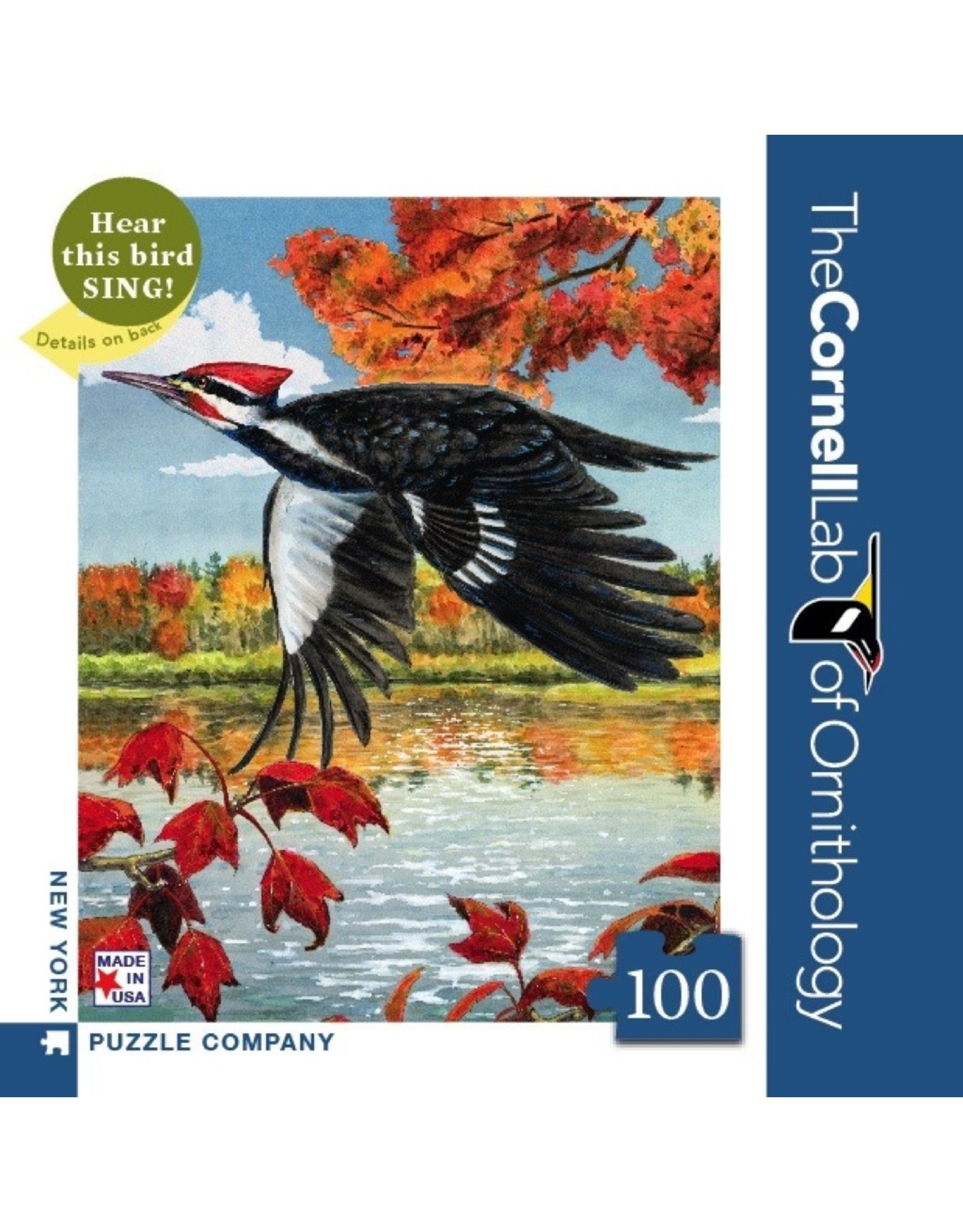 New York Puzzle Co Pileated Woodpecker Mini 100pc