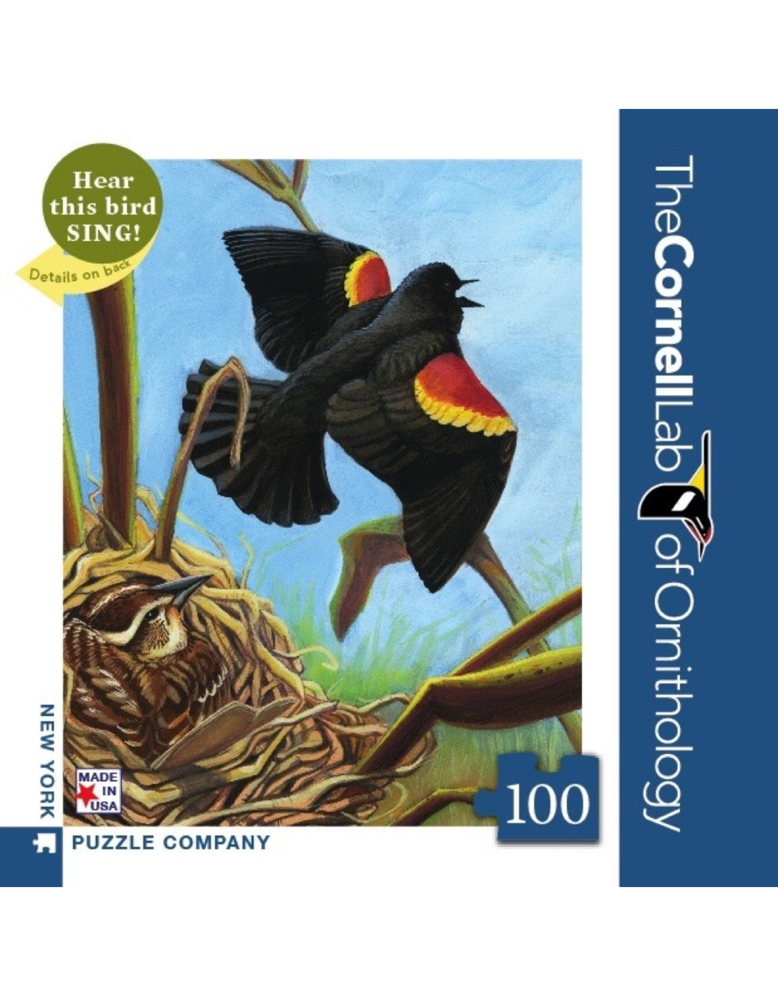 New York Puzzle Co Red-Winged Blackbird Mini 100pc