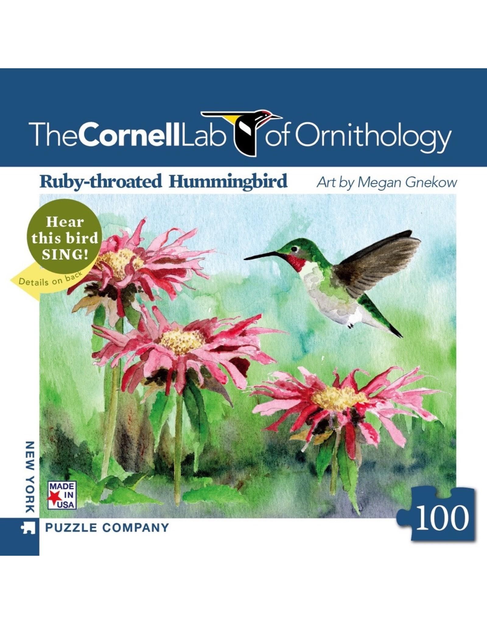 New York Puzzle Co Ruby-throated Hummingbird Mini 100pc
