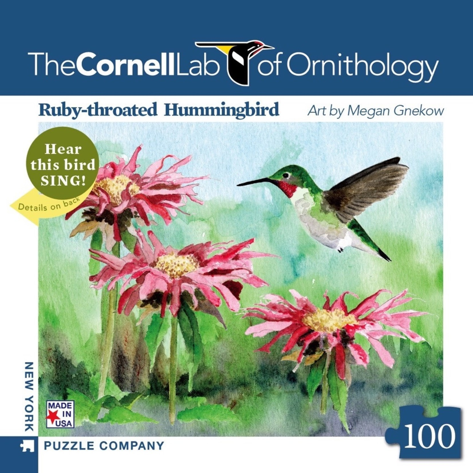 New York Puzzle Co Ruby-throated Hummingbird Mini 100pc
