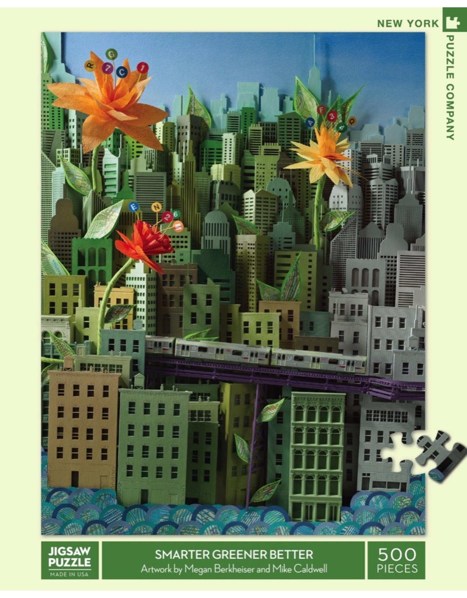 New York Puzzle Co Smarter Greener Better 500pc