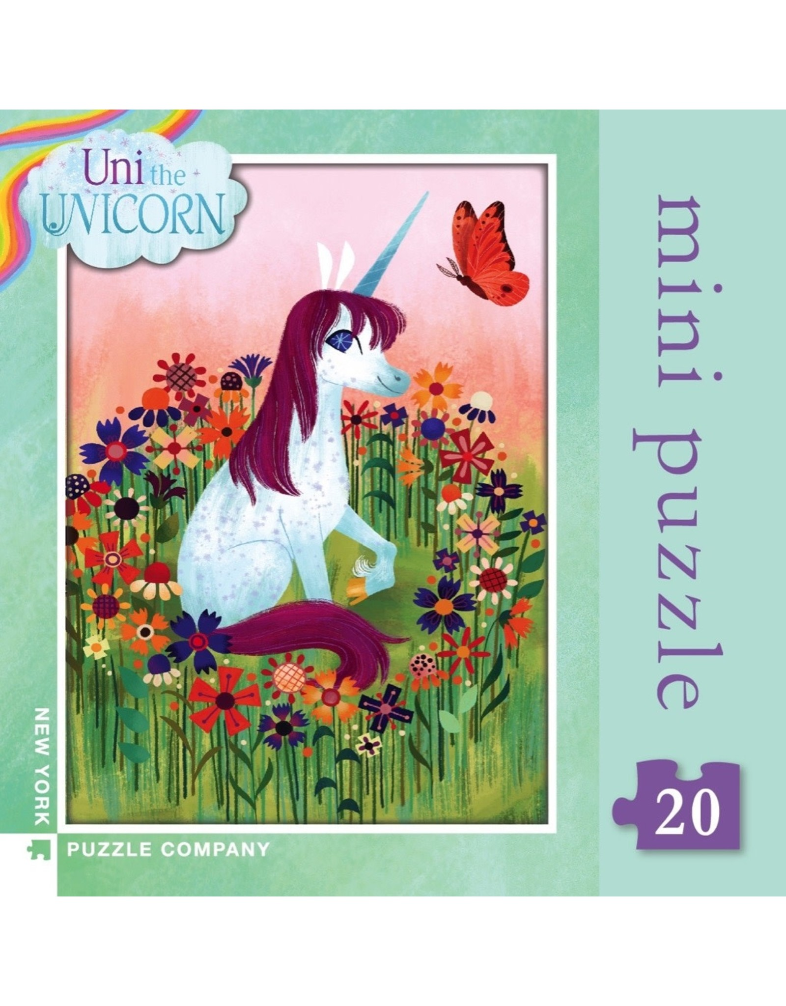 New York Puzzle Co Uni the Unicorn Mini 20pc