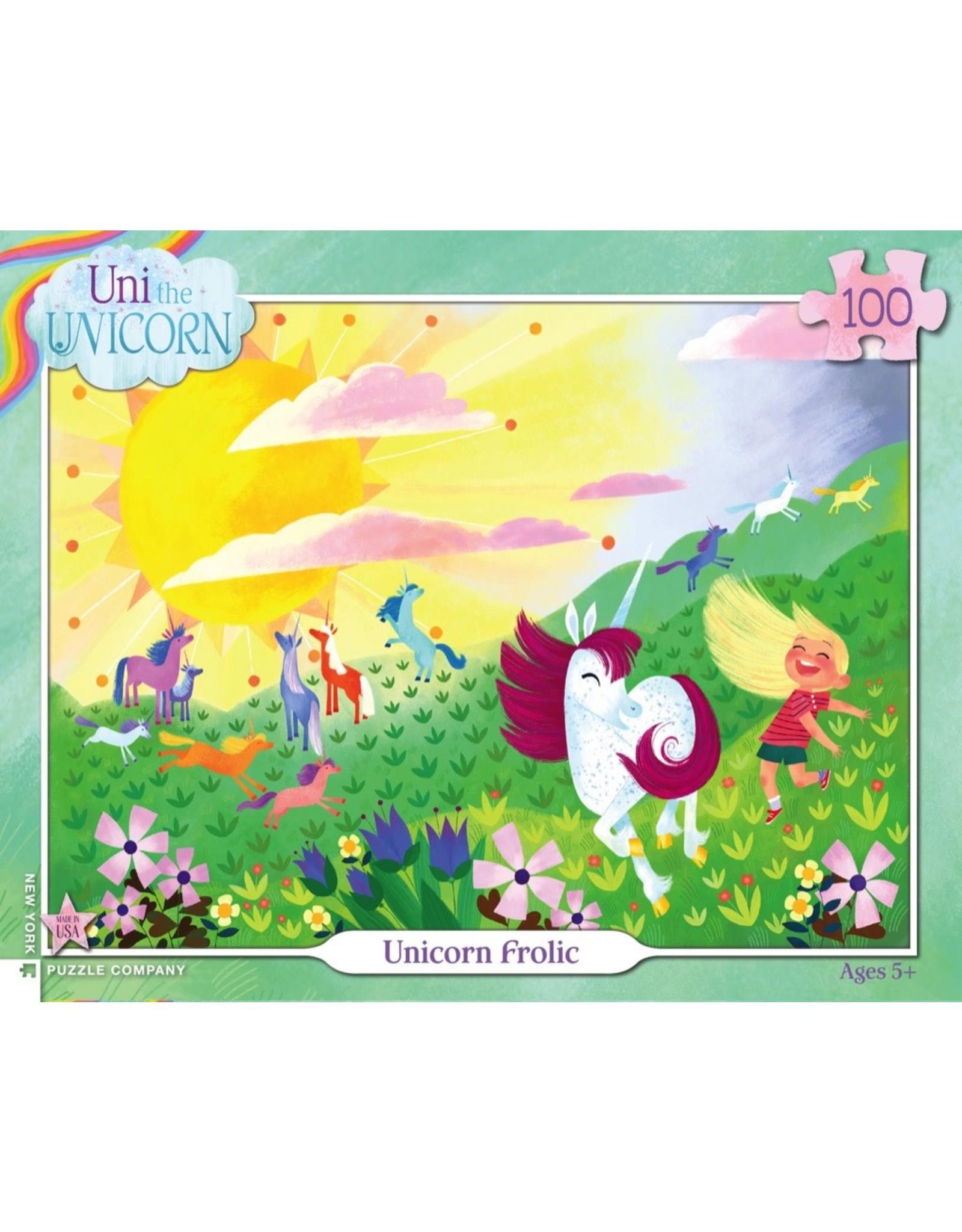 New York Puzzle Co Unicorn Frolic 100pc