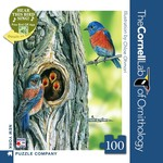 New York Puzzle Co Western Bluebird Mini 100pc