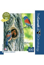 New York Puzzle Co Western Bluebird Mini 100pc