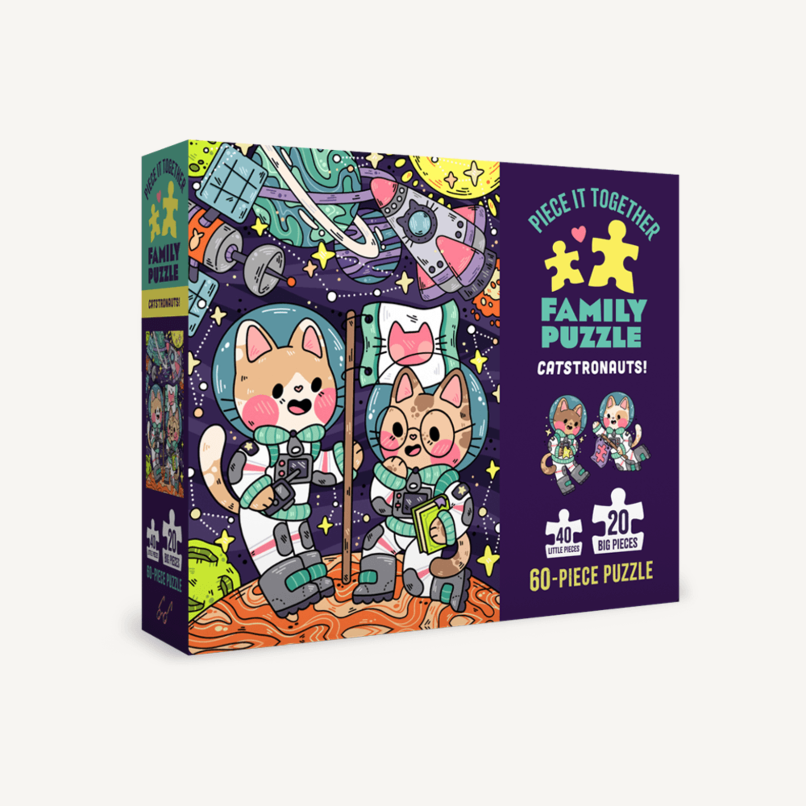 Chronicle Books Catstronauts! 60pc