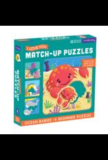 Mudpuppy Ocean Babies Match Up 6pc