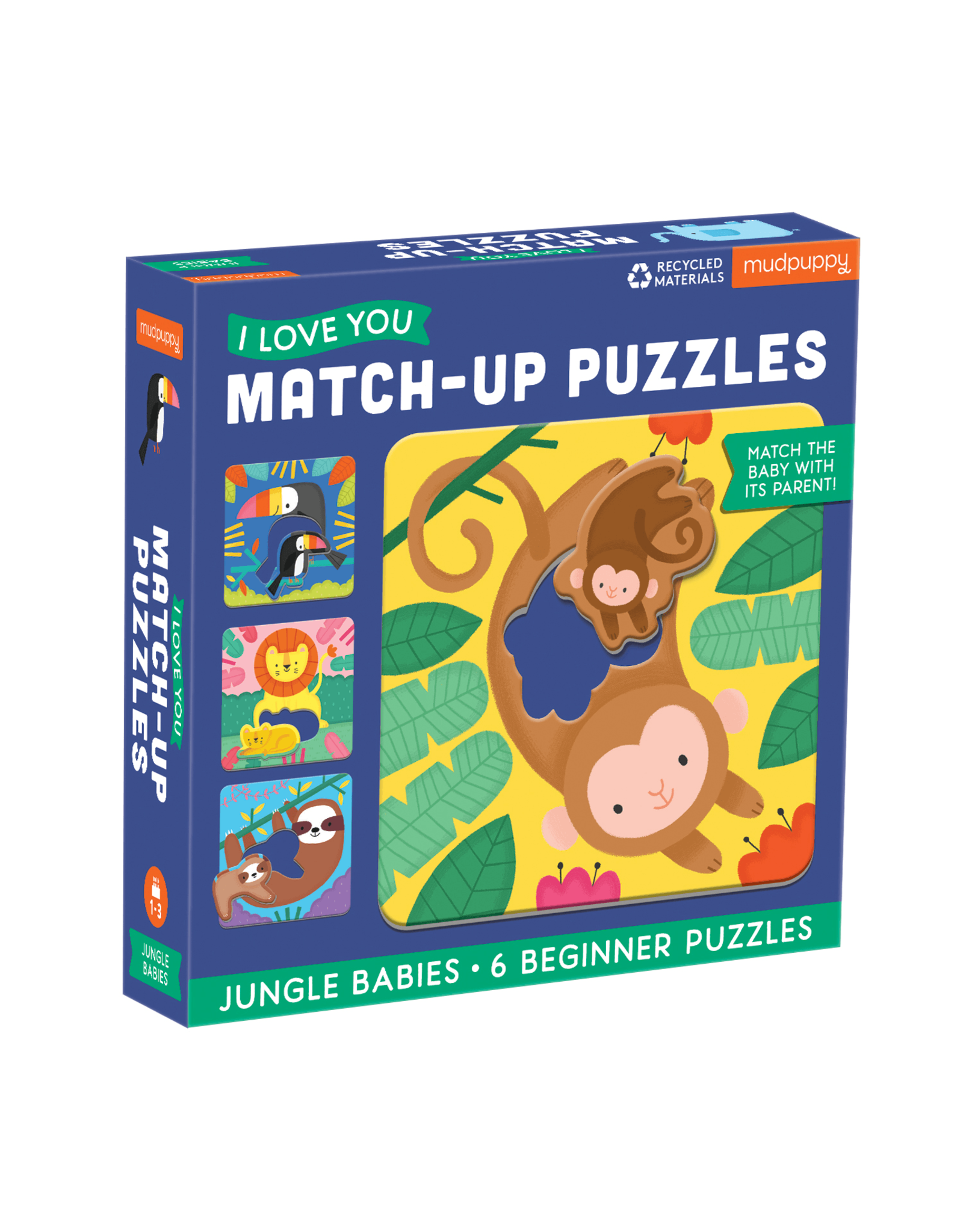 Mudpuppy Jungle Babies Match Up 6pc