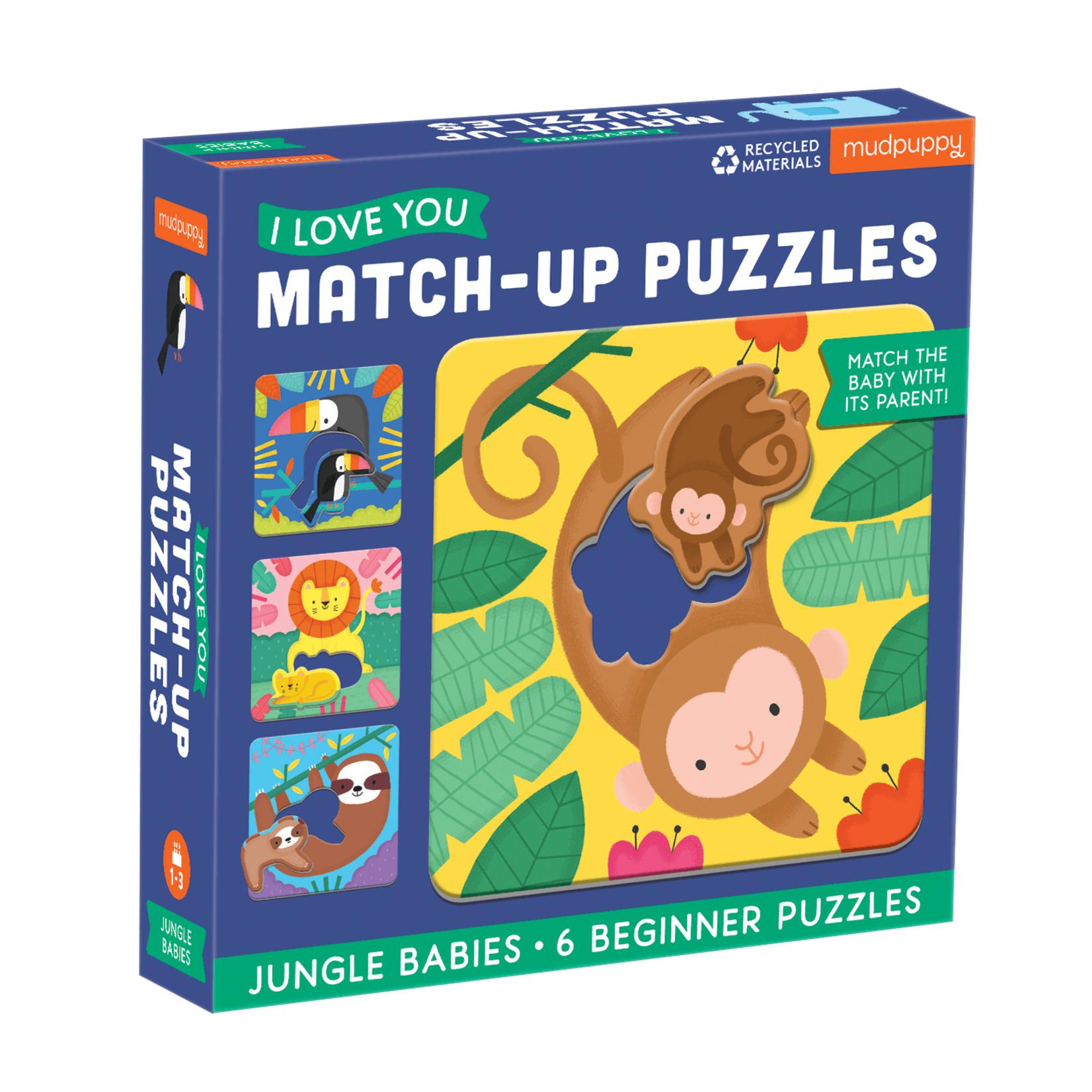 Mudpuppy Jungle Babies Match Up 6pc