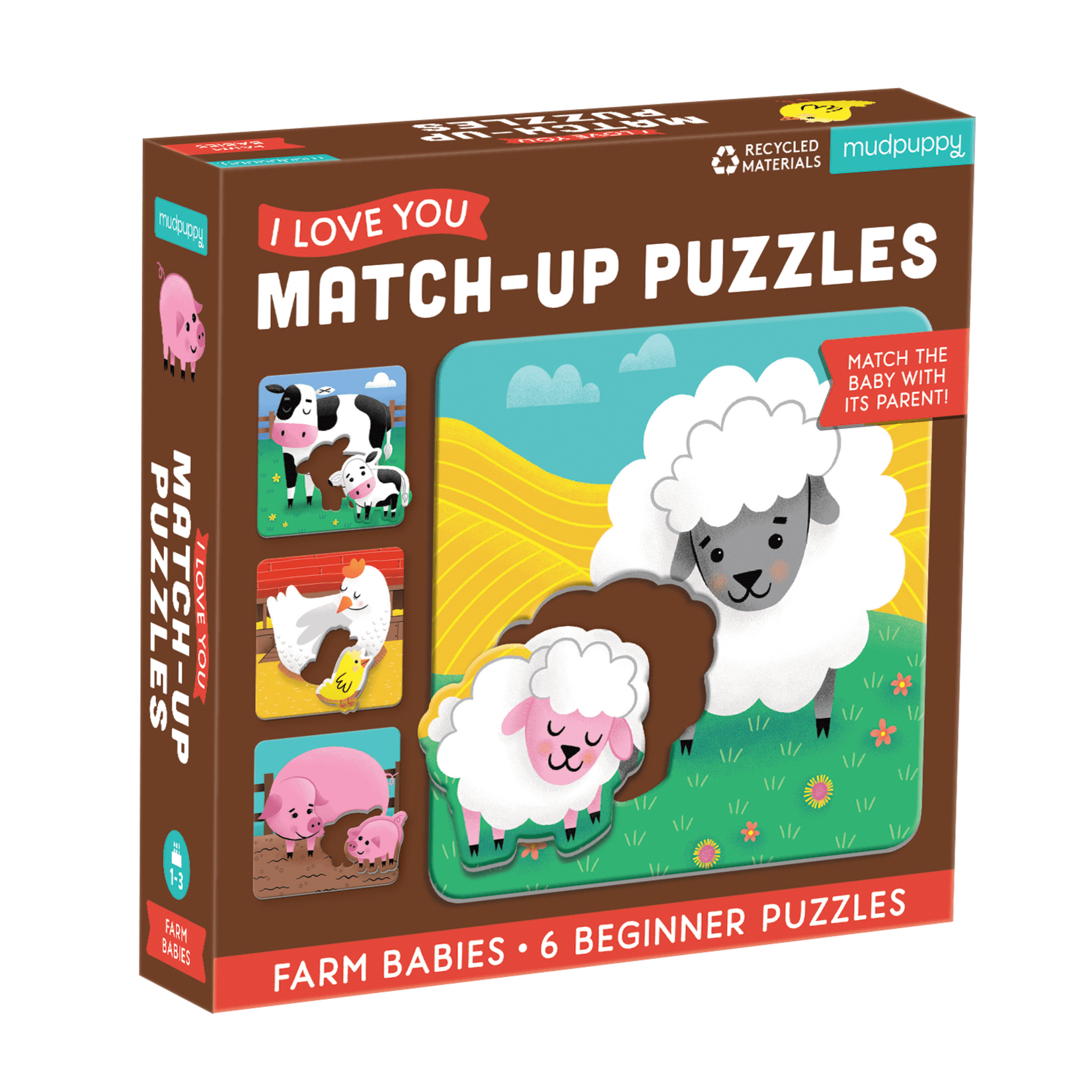 Mudpuppy Farm Babies Match Up 6pc