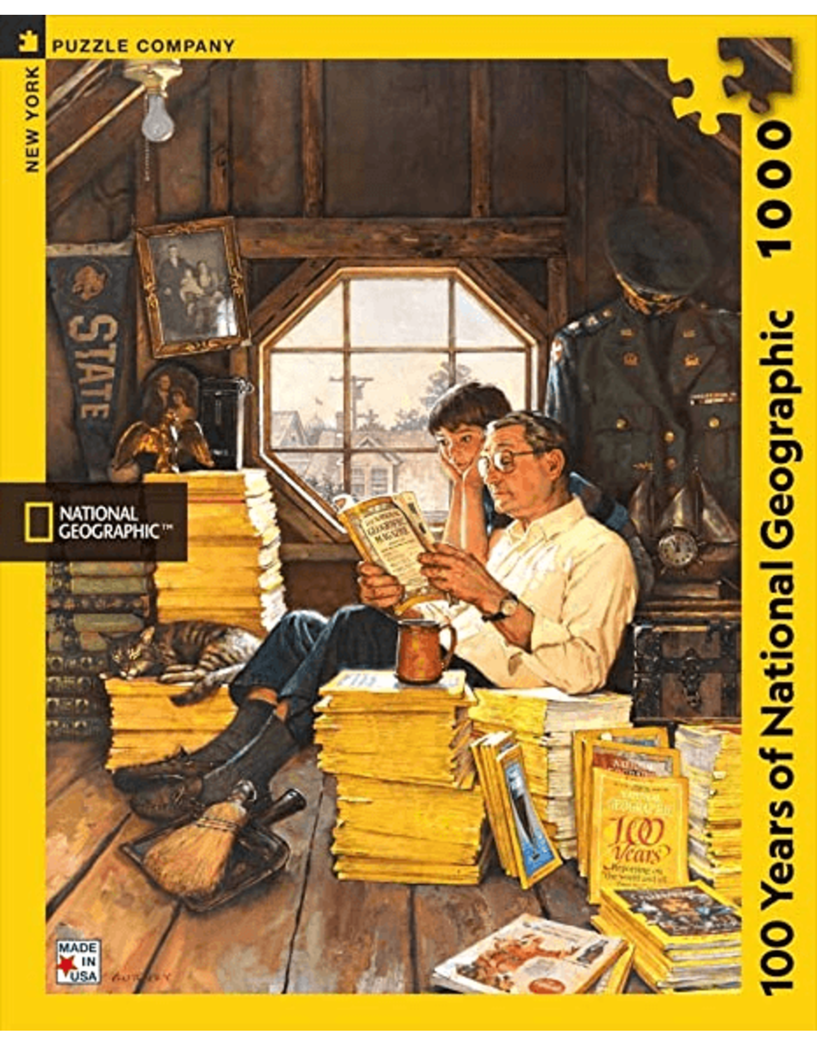 New York Puzzle Co 100 years of National Geographic 1000pc