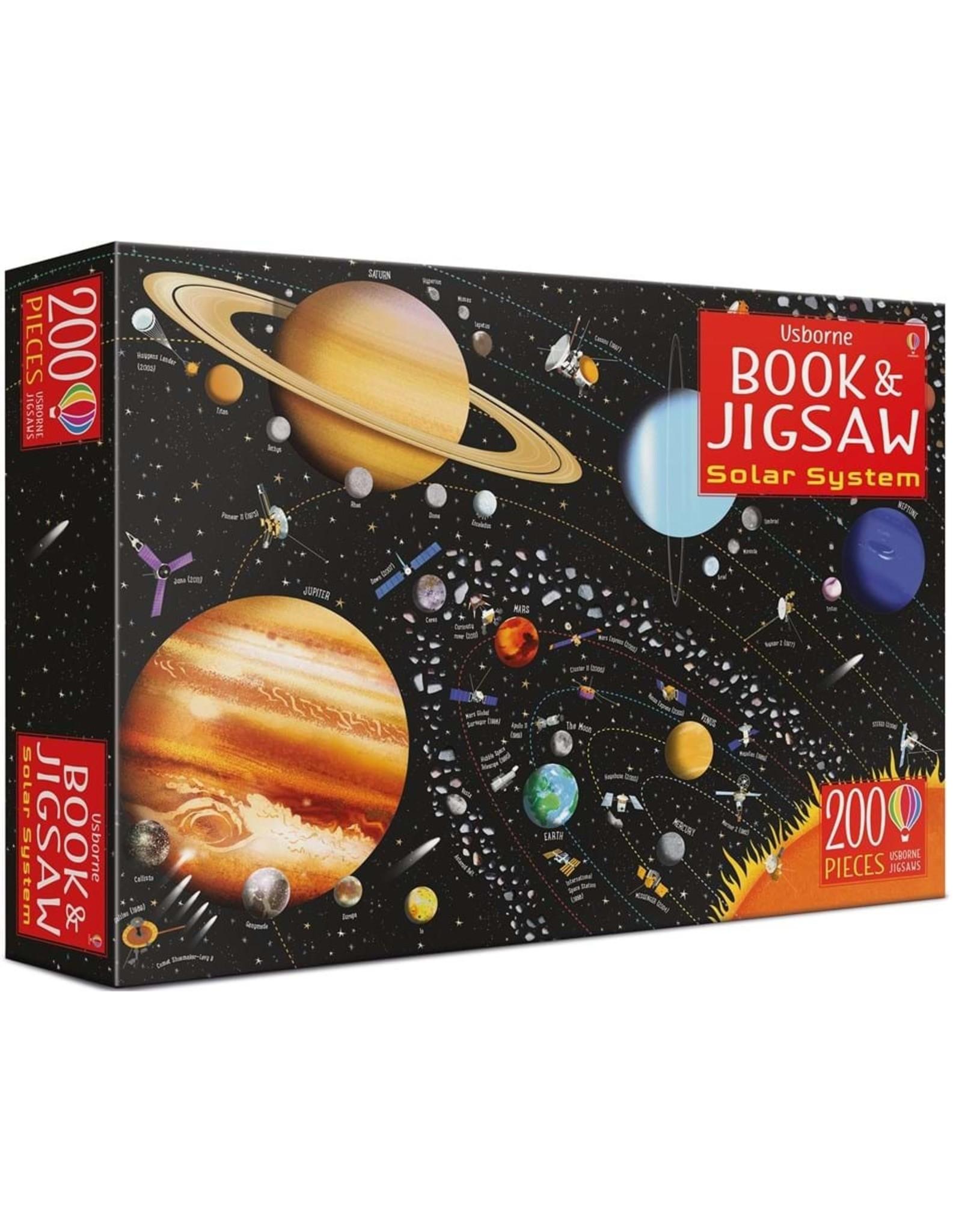 Usborne Solar System Book & Jigsaw 200pc