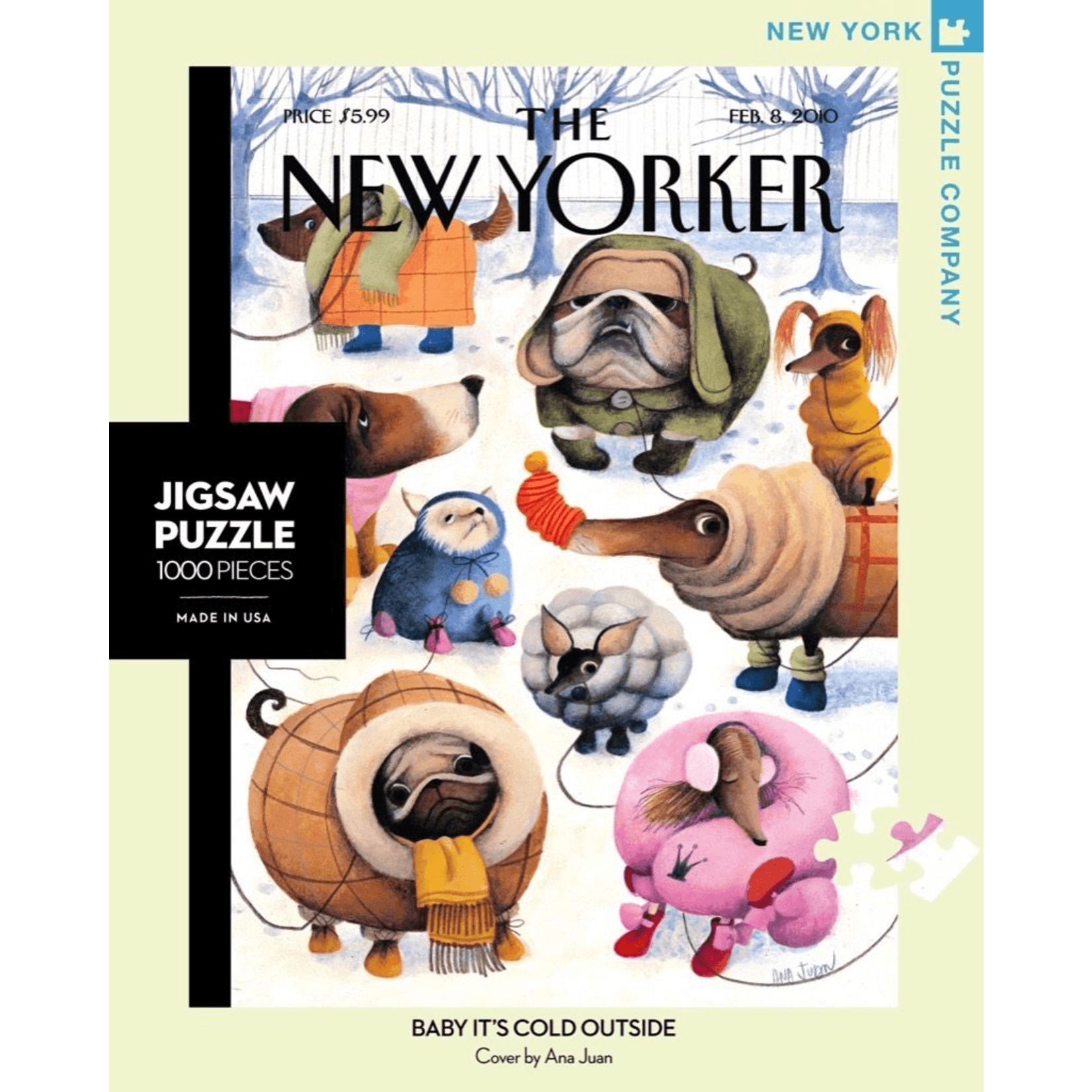 New York Puzzle Co Baby It's Cold Outside 1000pc