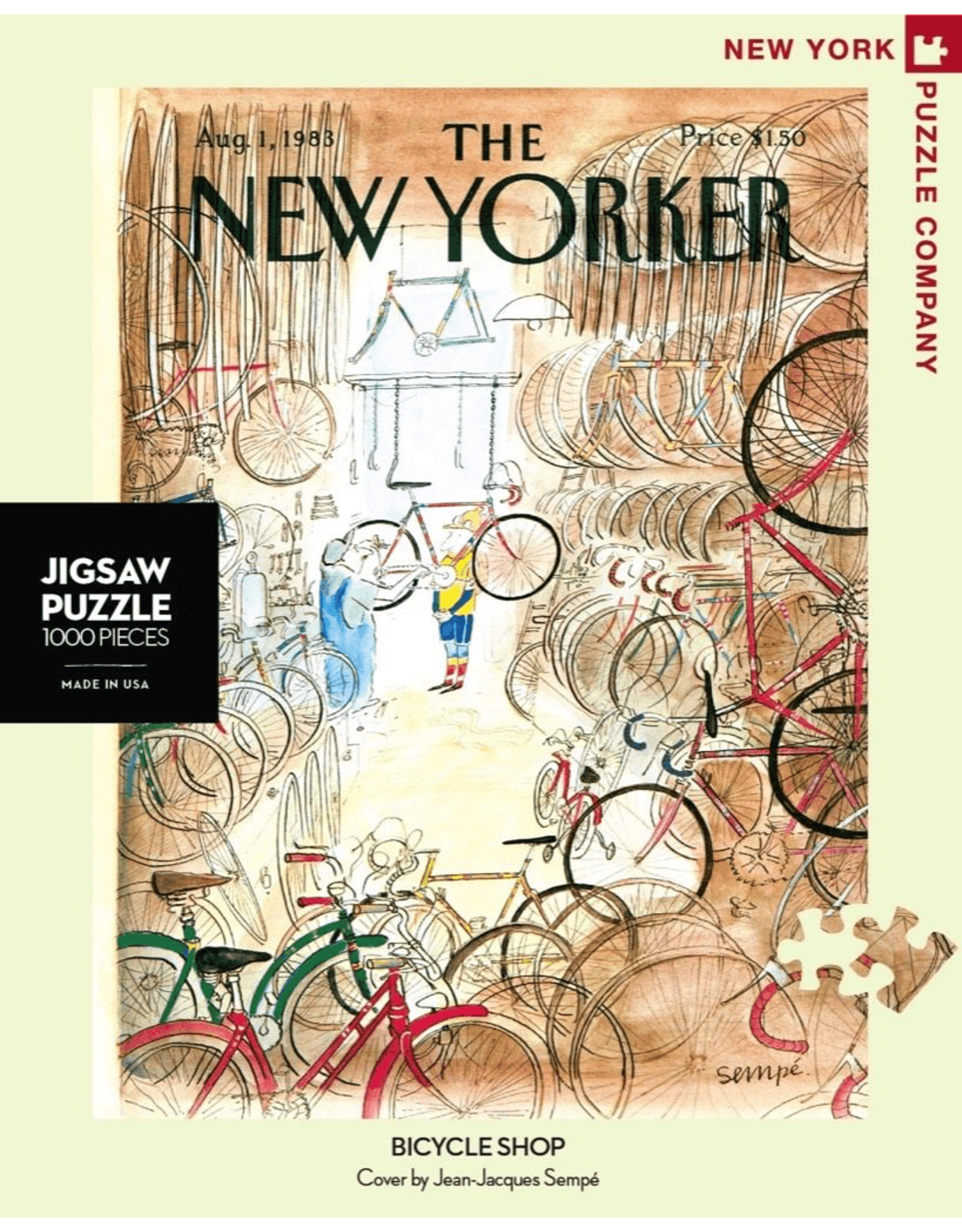 New York Puzzle Co Bicycle Shop 1000pc