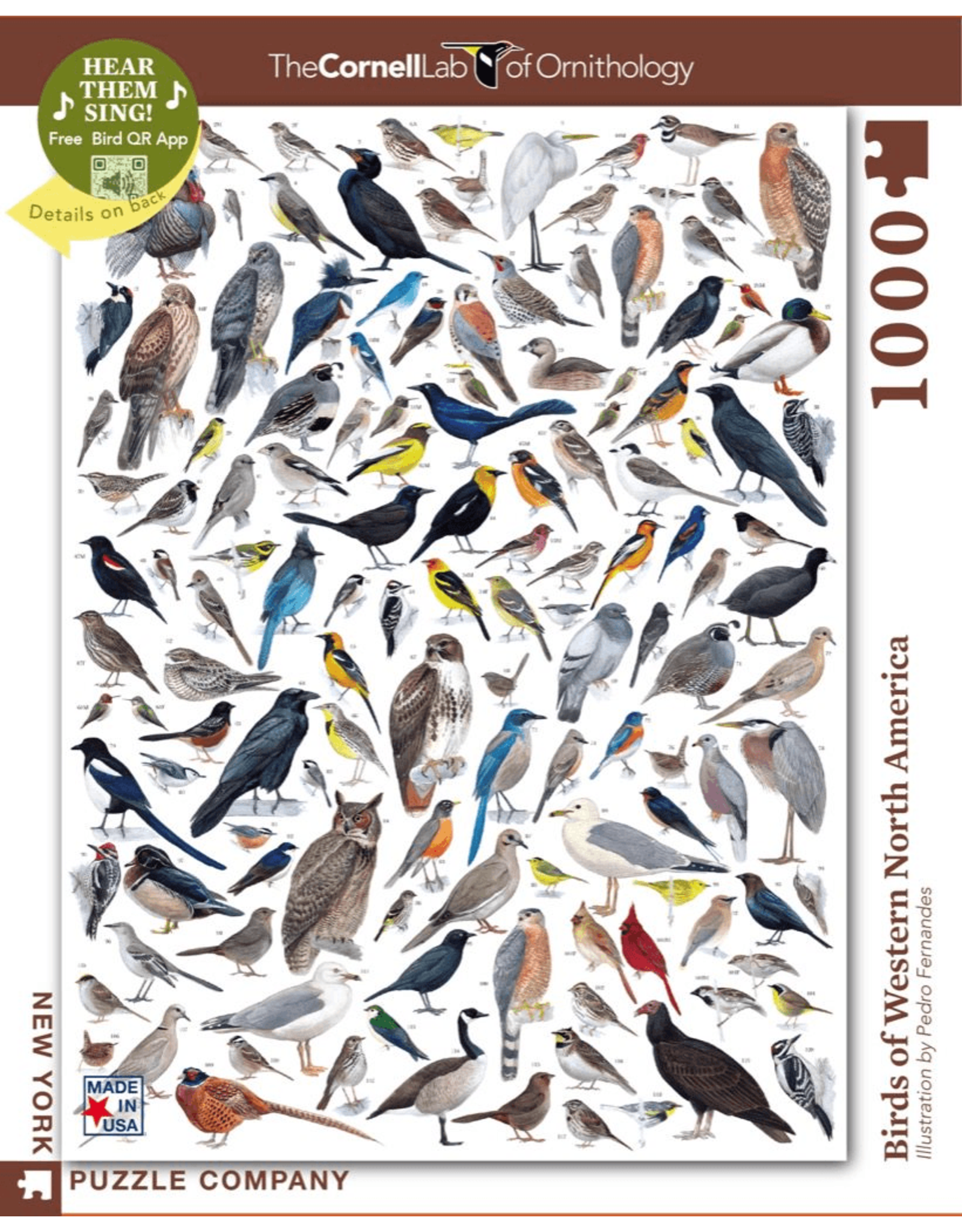 New York Puzzle Co Birds of Western America 1000pc
