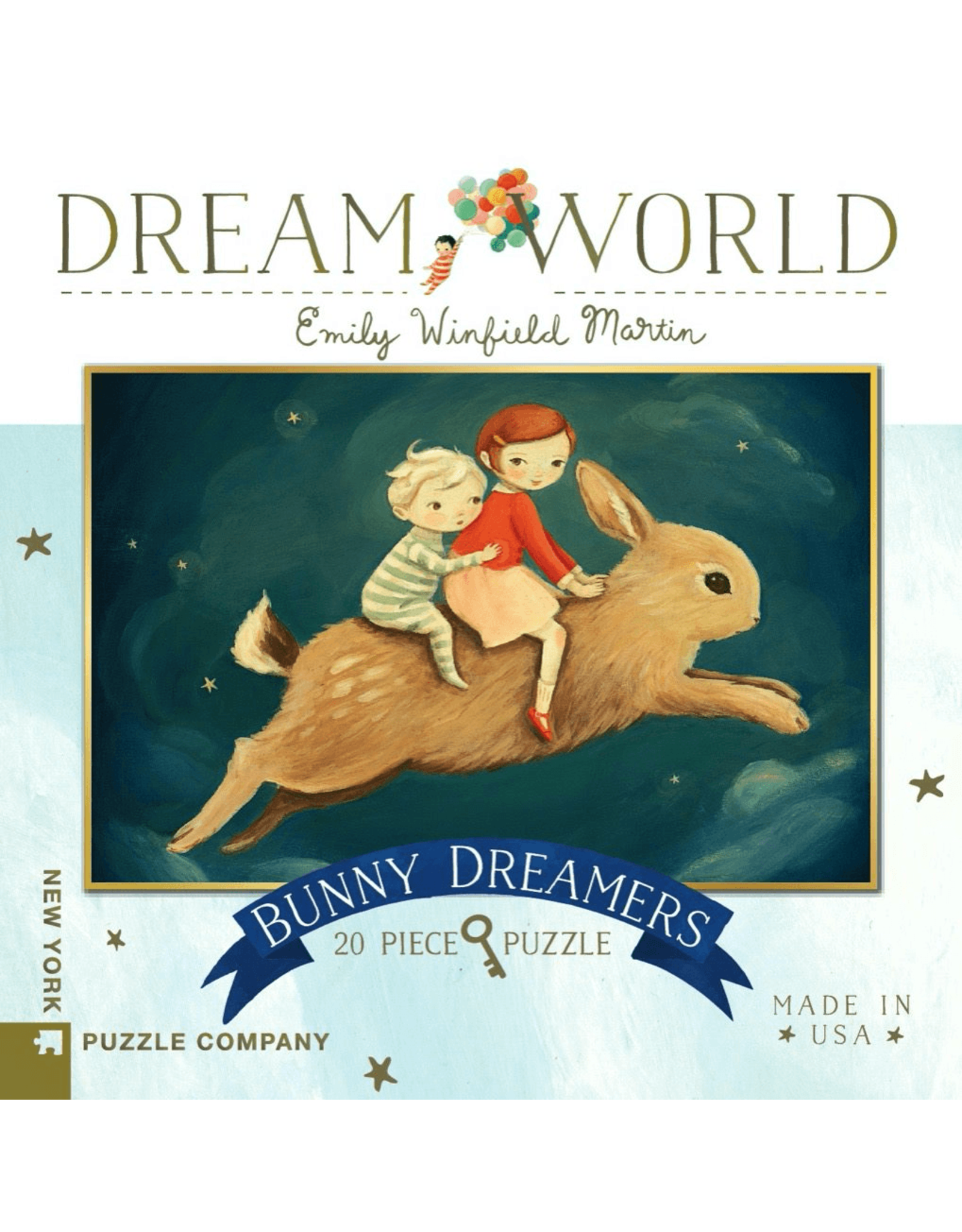 New York Puzzle Co Bunny Dreamers 20pc