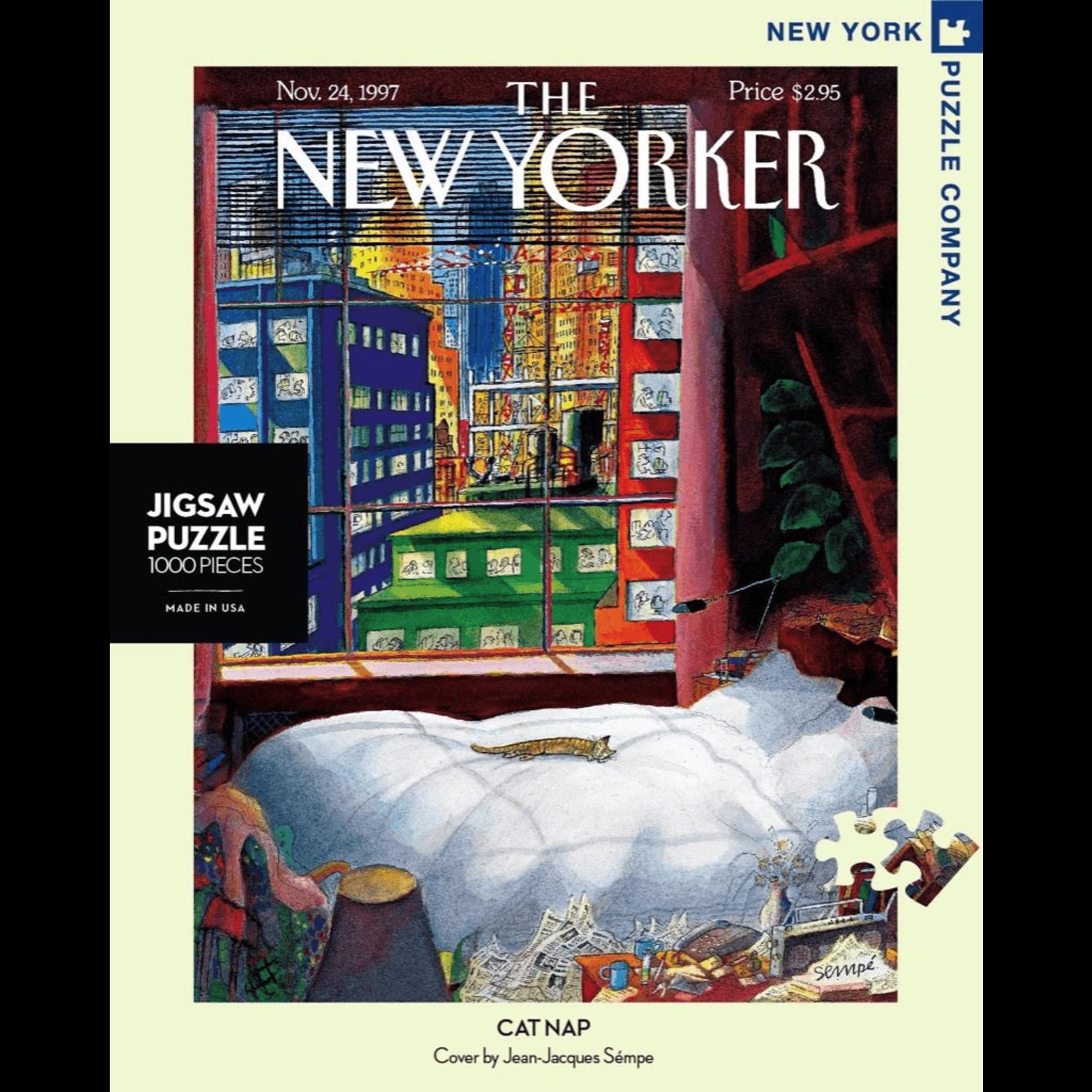 New York Puzzle Co Cat Nap 1000pc
