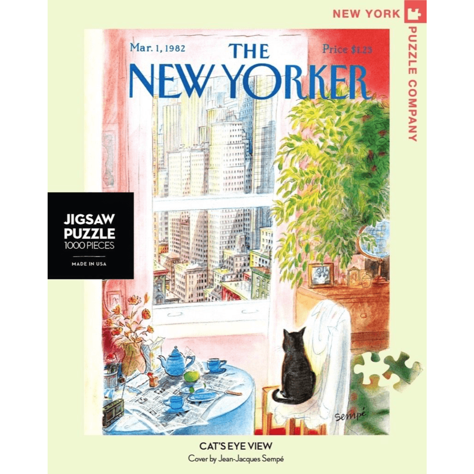 New York Puzzle Co Cat's Eye View 1000pc