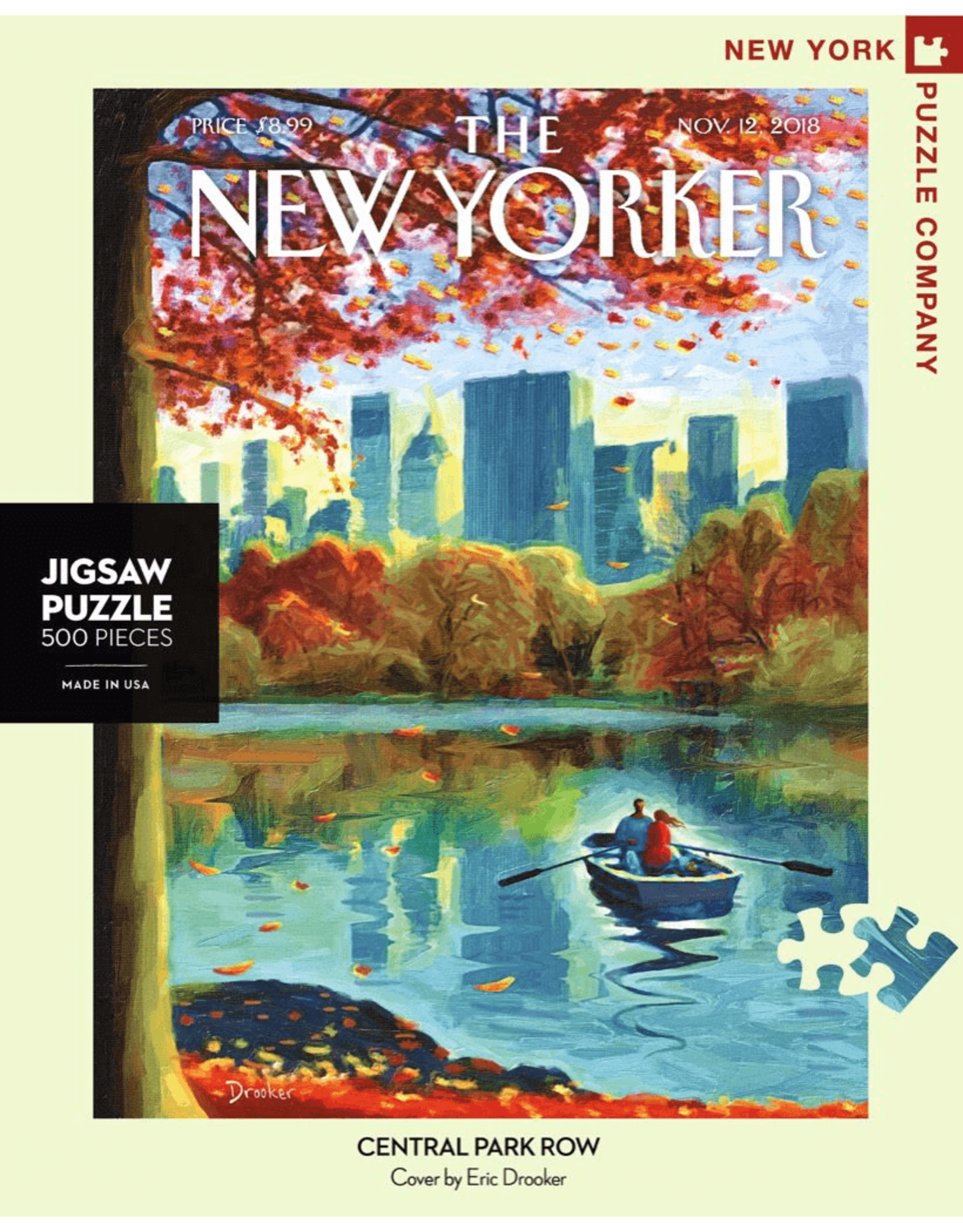 New York Puzzle Co Central Park Row 500pc