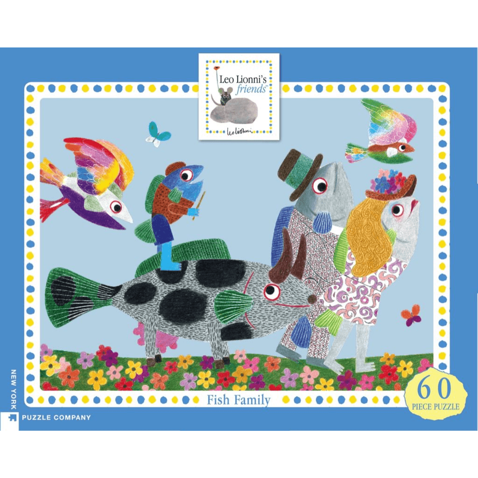 New York Puzzle Co Fish Family 60pc